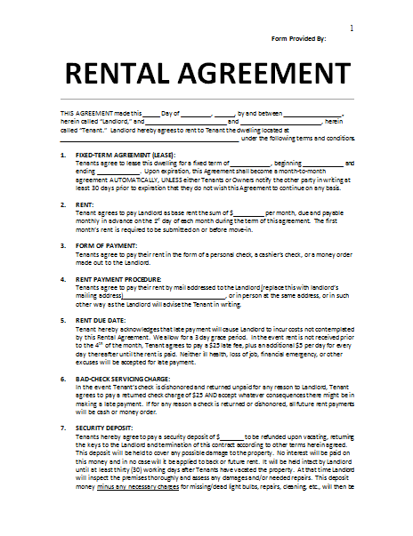 Rental Agreement Template: Write a Perfect Agreement