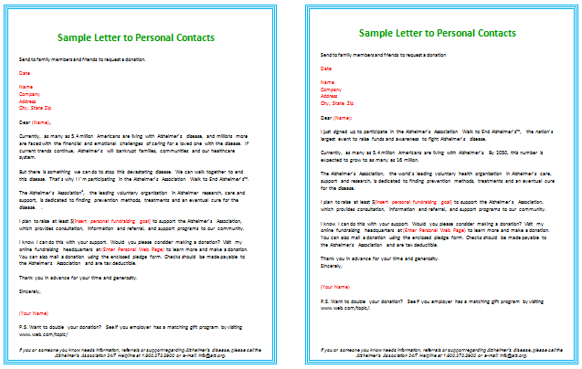 Donation Letter Templates to Request Family and Friends