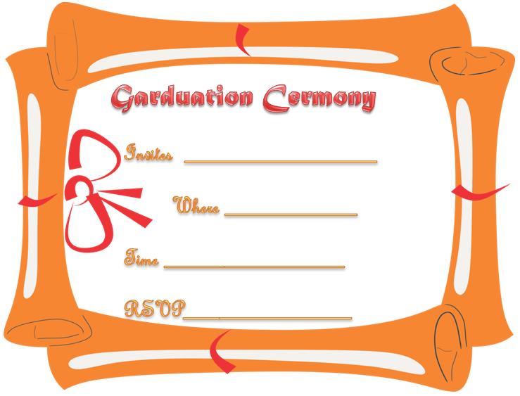 certificate themed graduation ceremony invitation template - Graduation Ceremony Invitation