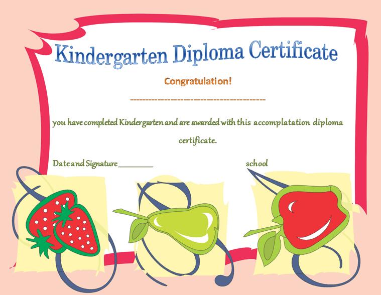 Kindergarten diploma certificates printable templates kindergarten diploma certificates template for kids yadclub Gallery