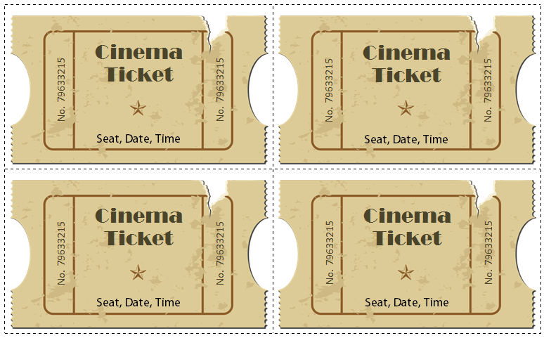 6 movie ticket templates to design customized tickets free movie ticket template for word pronofoot35fo Images