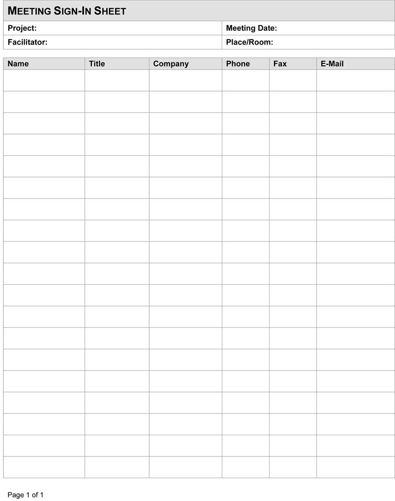 meeting sign in sheet pdf