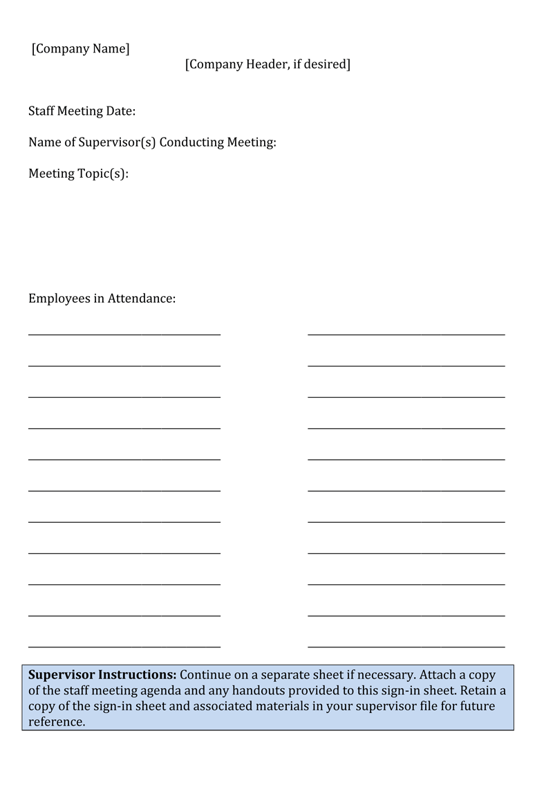 employees sign in sheet