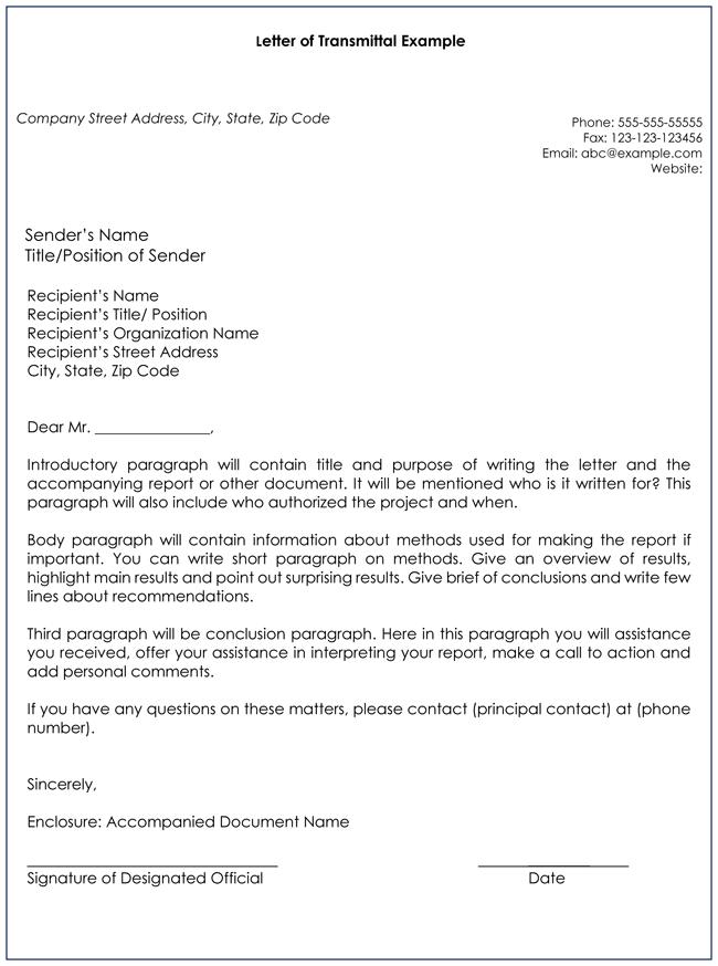 transmittal letter template Hatch urbanskript