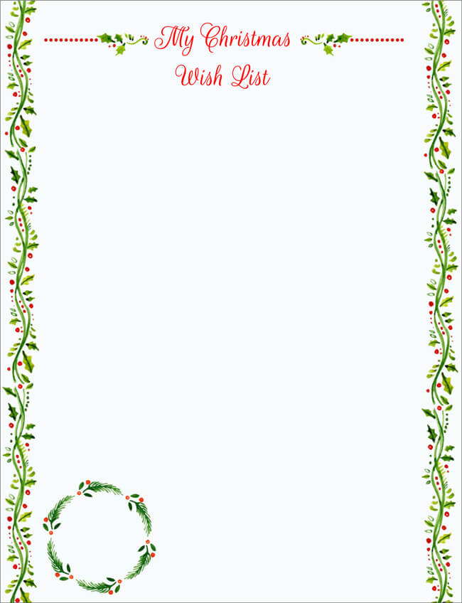 20 free letter to santa templates for kids to write wishes blank letter from santa template pronofoot35fo Gallery