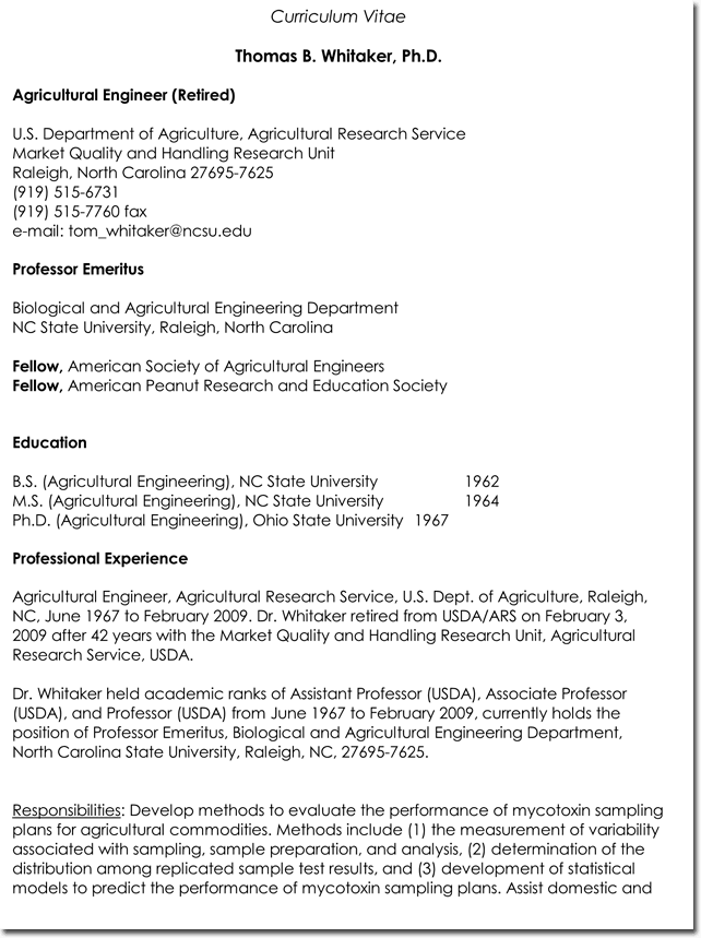 Agricultural CV and Resume Templates and Samples in Word format