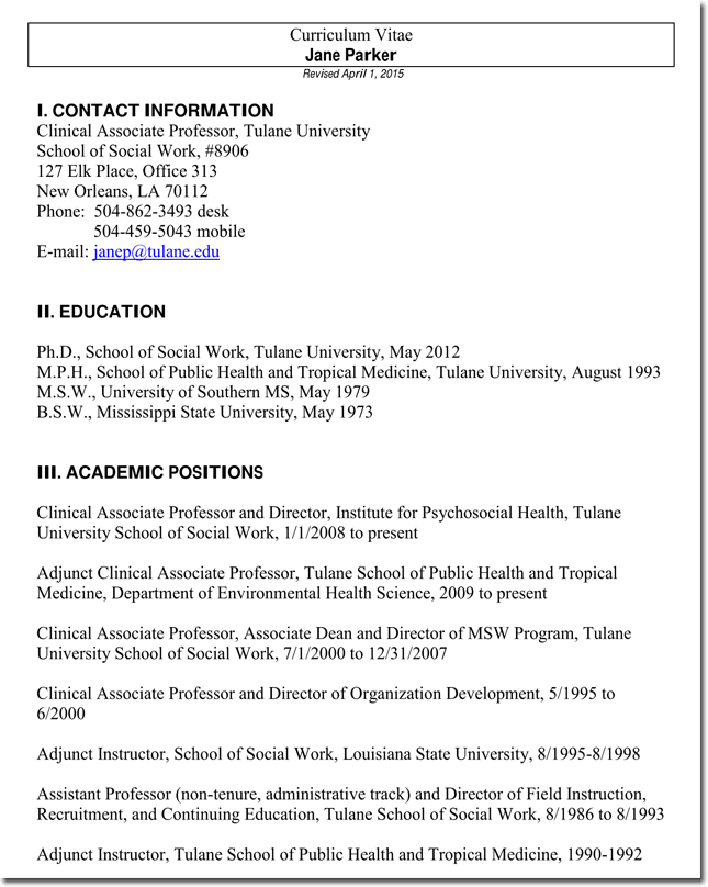 Sample Social Worker Resume No Experience