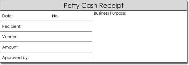 printable petty cash receipt format for Word