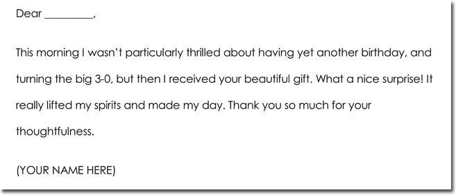 Birthday Thank You Card Wording