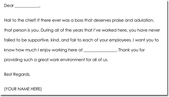Boss Thank You Note Wording Sample