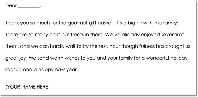 Christmas Thank You Note Wording