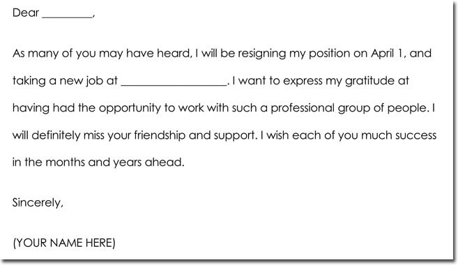 Employee Farewell Thank You Note Wording