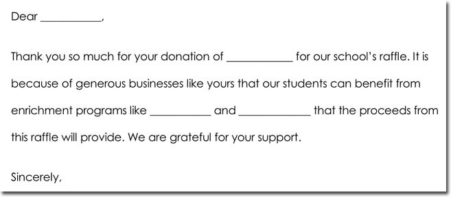 Sample Donation Thank You Notes