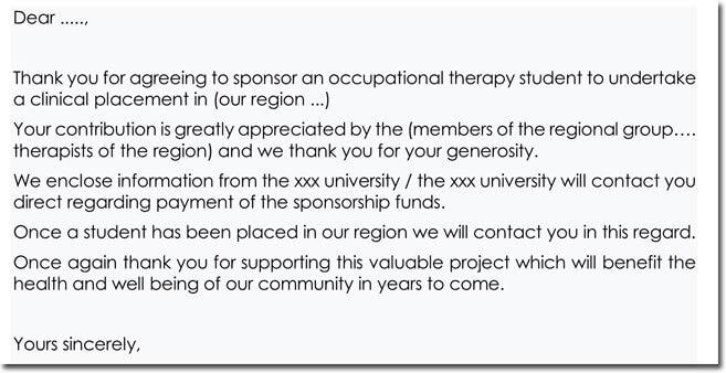 Letter of sponsorship support