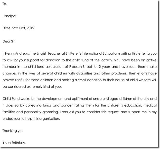 Sample Letter of support for grant