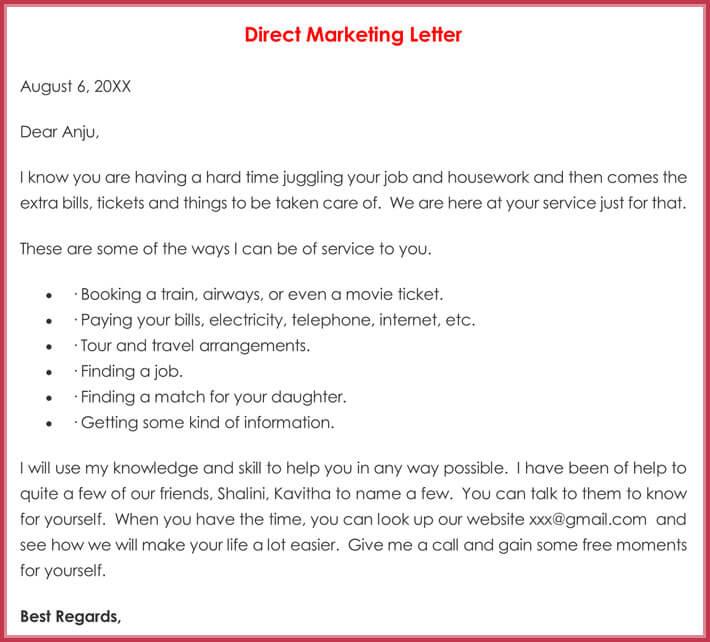 E Mail Marketing Letter