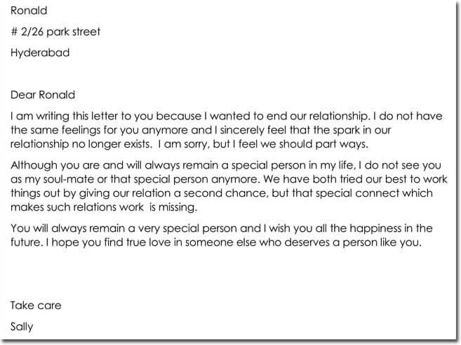 Final Good Bye Letter to Boyfriend