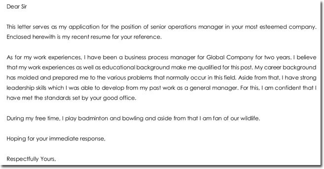 Job Application Letter with self Introduction