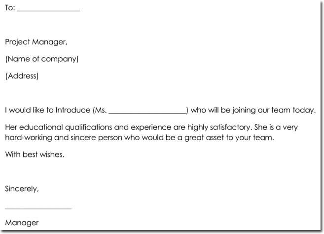 New Employee Introduction Letter Format