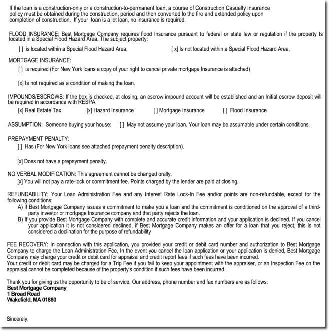 Sample Conditional Approval Letter