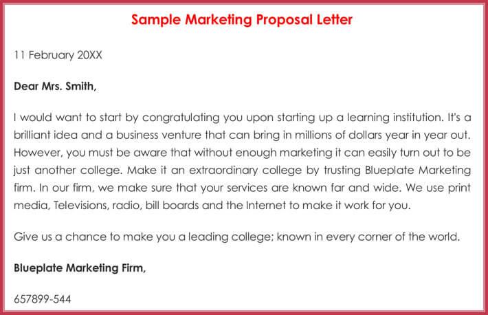 Sample Marketing Proposal Letter