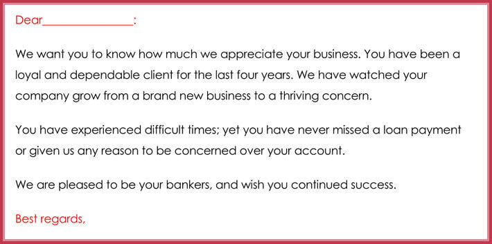 format of customer thank you email template