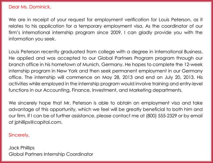 print free employment verification template