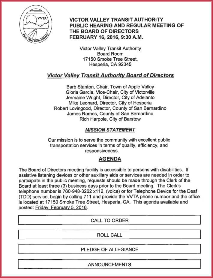 download free business meeting agenda