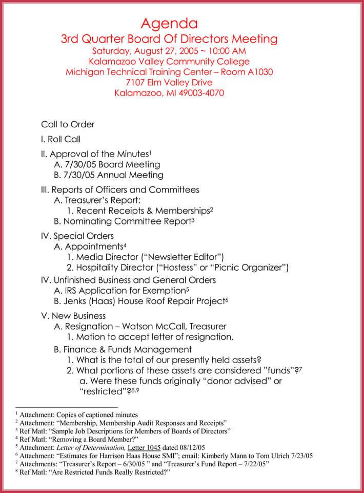 edit free formal meeting agenda template