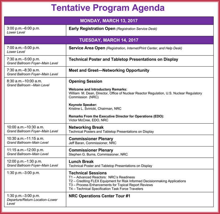 free edit simple agenda template
