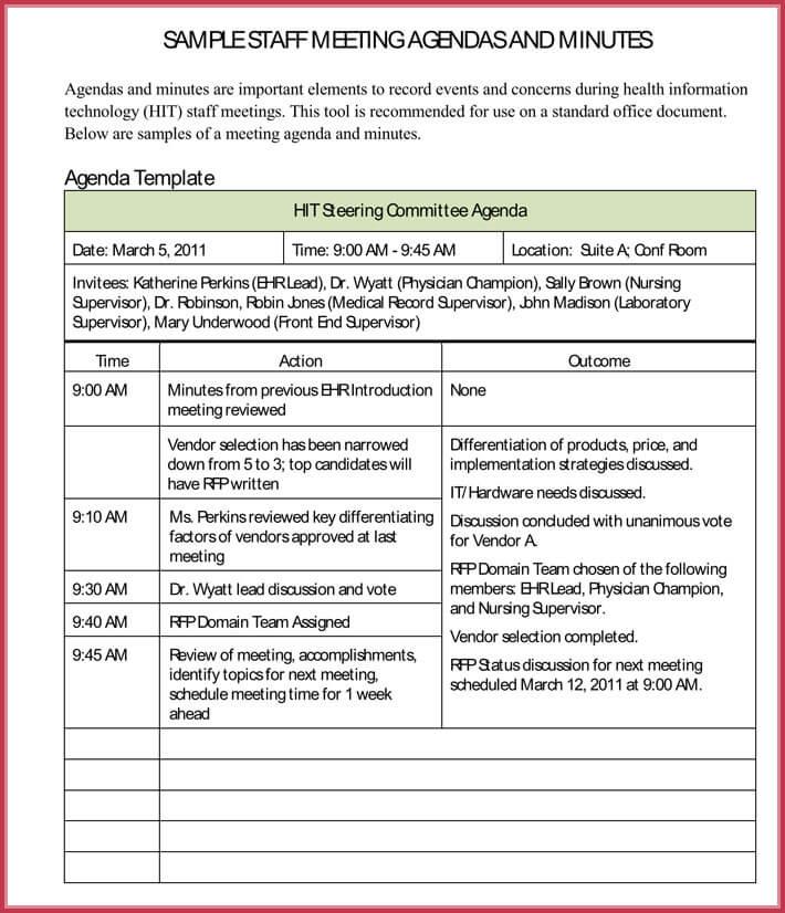 download free simple agenda template