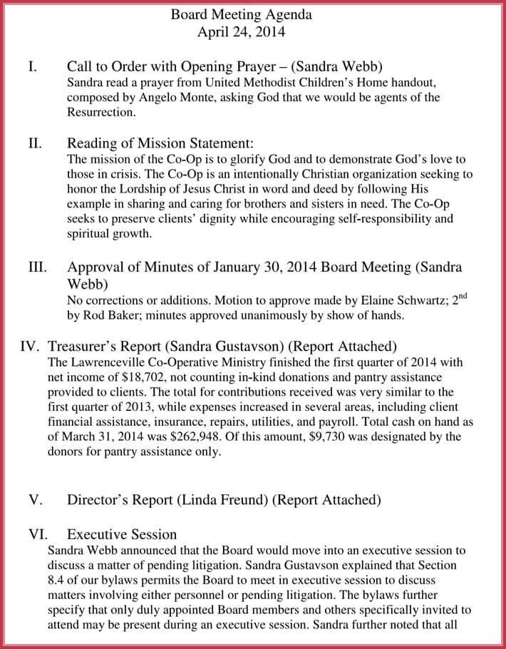 printable client meeting agenda