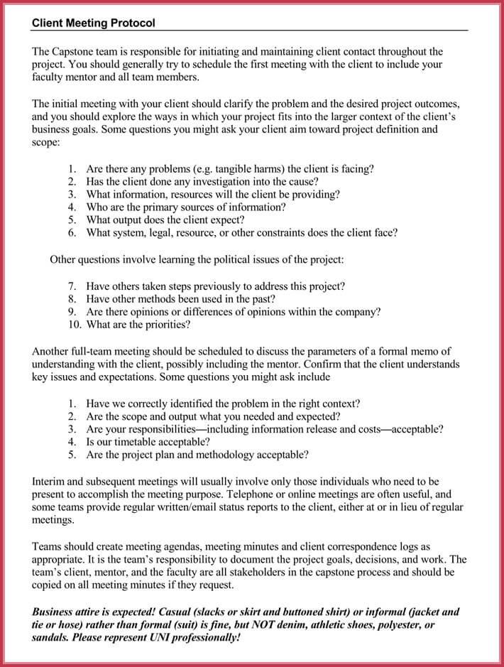 client meeting agenda templates example
