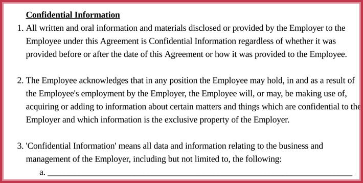 free printable basic confidentiality agreement