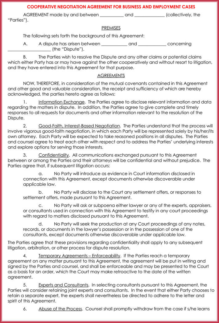 free download confidentiality settlement agreement