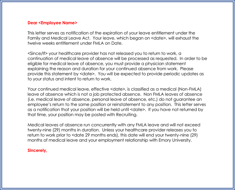 Official Leave Letter