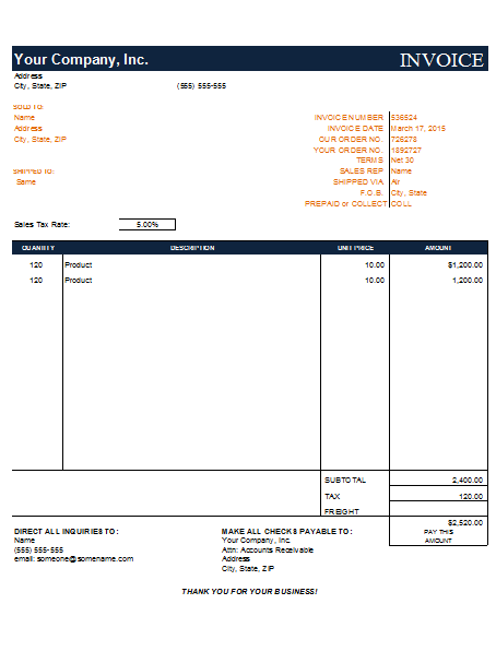 3 free invoice templates to build any type of invoice