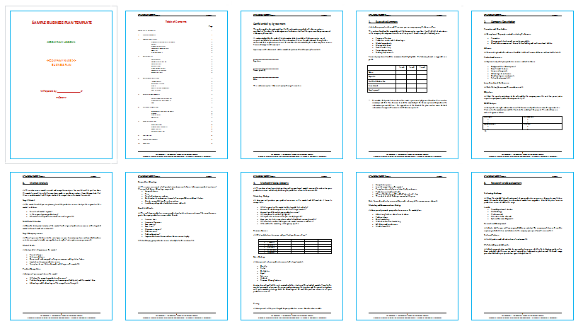 best and simple business plan sample