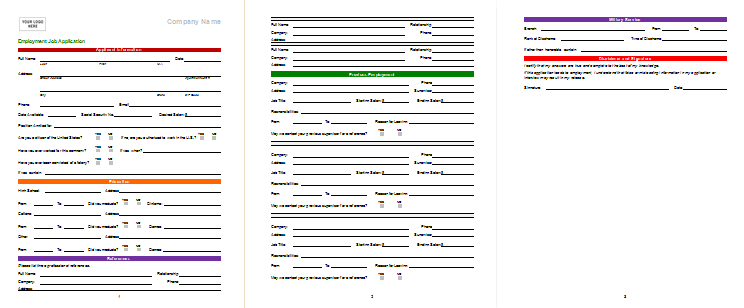 Job Application Template Best Sample that Works – Sample Employment Application