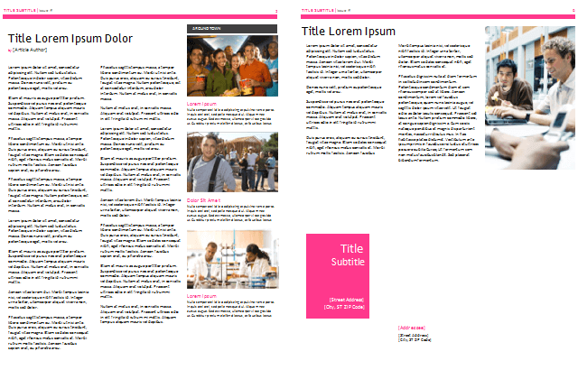 college and high School Newsletter Templates