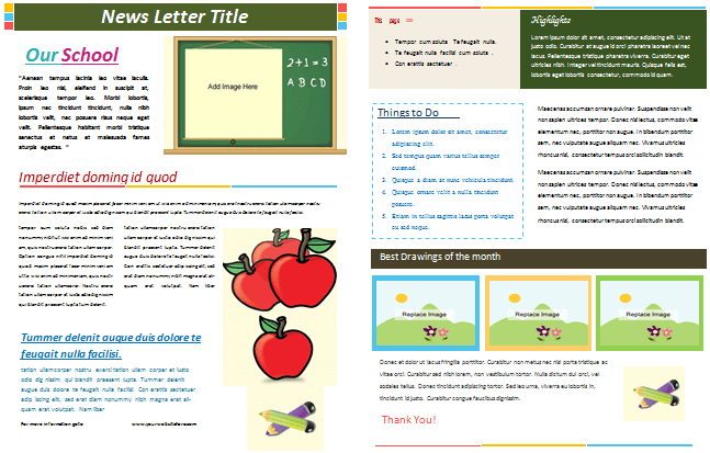 School Newsletter Templates for Classroom and Parents