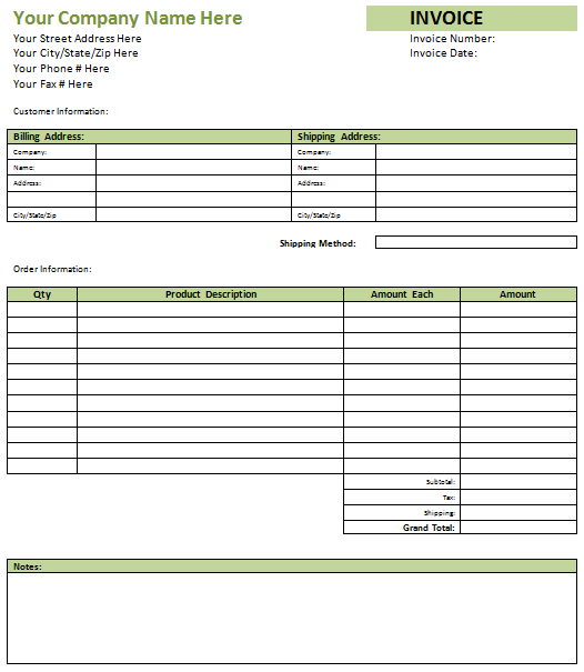 Blank Invoice Template Free Blank Invoices - Blank invoice template for microsoft word