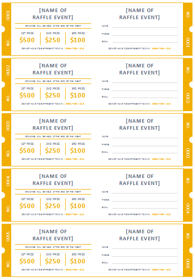 Raffle Ticket Templates | Make Your Own Raffle Tickets