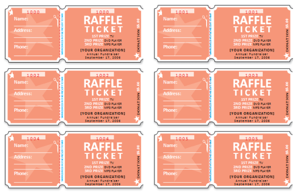 Raffle ticket templates make your own raffle tickets for Ticket template for mac