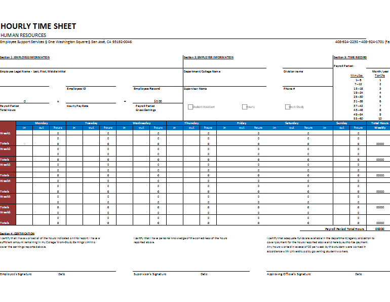 Free Timesheet Templates at Document Templates – Consultant Timesheet Template