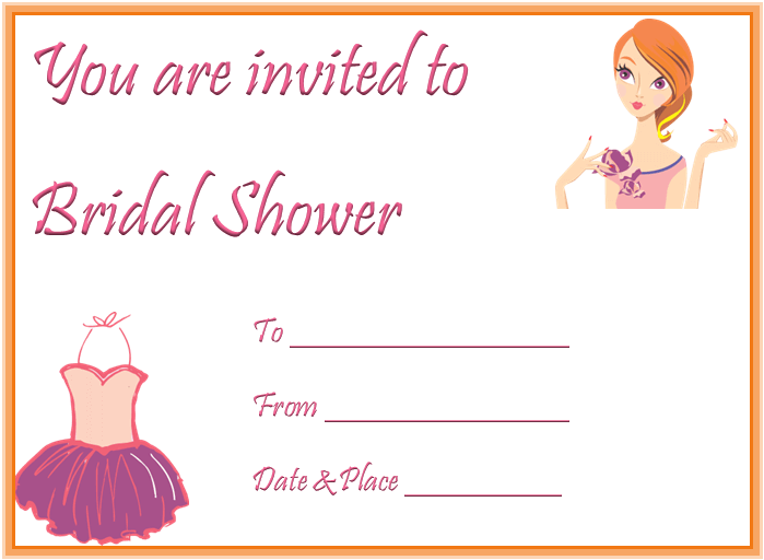Bridal Shower Invitation Template for Word
