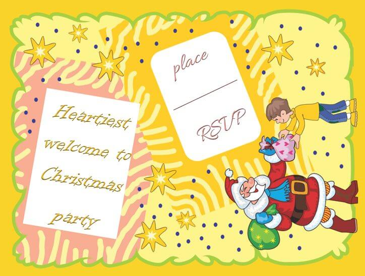 Christmas Party Invitation Template for Microsoft Word