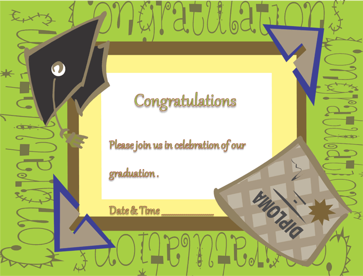 Graduation Invitation for Microsoft® Word