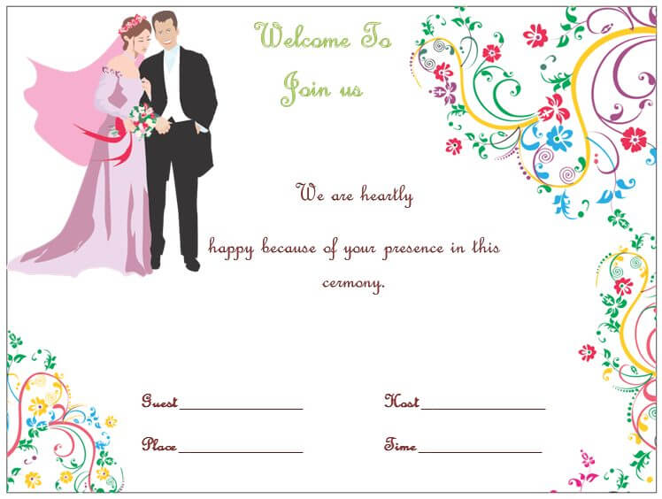 Wedding Invitation Template for Microsoft Word