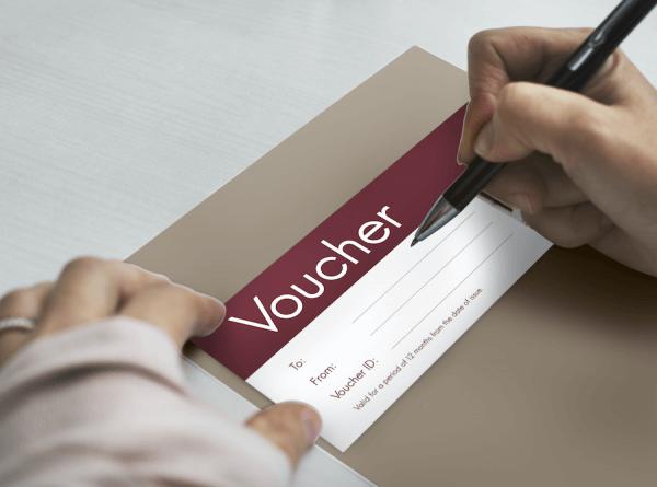 Custom gift voucher